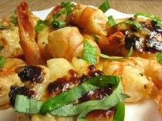 Shrimp and Scallops in a Lemon Butter Sauce