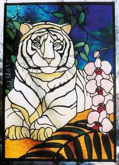 Dad's Stained Glass Bengal Tiger