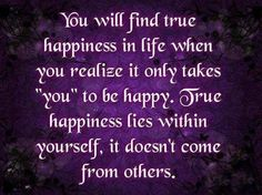 Where to find true happiness
