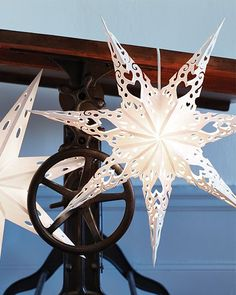 Swedish Paper Star with Free Printable via Sweet Paul Mag Paper Christmas Decorations, Paper Ornaments, Christmas Paper Crafts, Noel Christmas, All Things Christmas, Christmas Ornaments, Sweden Christmas, Handmade Christmas, Christmas Projects