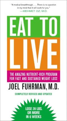 This book changed my life! Weight loss has always been very difficult after having 2 kids. After reading this book and following Dr. Furhman's health equation (H=N/C) I have lost 7lbs. in 2 1/2 weeks. :D