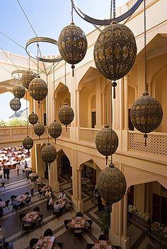 Arabian Globe decorations, Shangri-La Resort, Al Jissah, Muscat, Oman, Middle…
