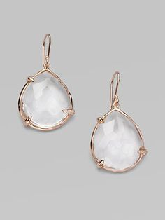 Rose Gold. I would love to know who made this pair of earrings! Hint, hint!