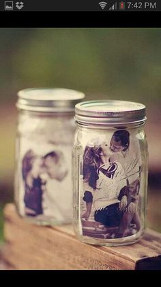mason jar Decorating Ideas for parties | Cute photo decor in a mason jar | Party ideas