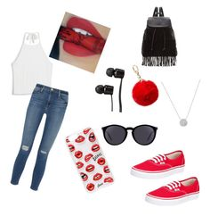 """""""Mary Jo K"""" by royal-ryah21 ❤ liked on Polyvore featuring Monki, Vans, Frame Denim, Glamorous, Yves Saint Laurent and Sonix"""