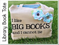 library book tote