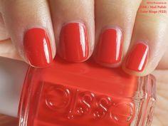 Essie Nail Polish in Color Binge (swatch by fivezero.ca) [orange, red, tomato]