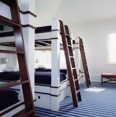 Bunk rooms always remind me of fun and friends. Who has bad memories from staying in a bunk room?!