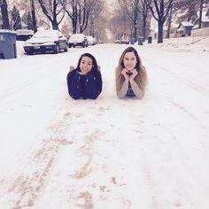 Bestfriend winter photoshoot