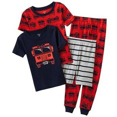 Carter's Fire Truck Pajama Set - Baby