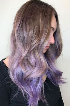 Lavender Ombre Hair