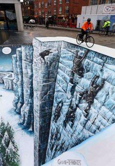 A realista arte de rua 3D do estúdio 3D Joe and Max