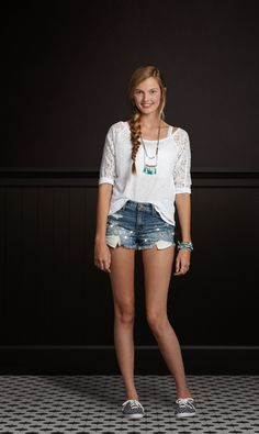 These high-rise short shorts look awesome with a pair of Keds! | Hollister + KEDS | Hollister.com