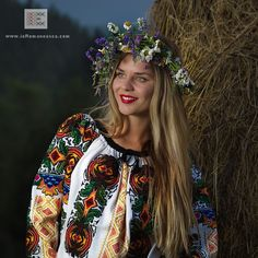 100% manually stitched Romanian Blouse from Bukovina - worldwide shipping - Rumänische folklore bluse
