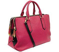 orYANY Kristina Italian Diamond Leather Zip Satchel