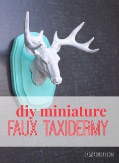 DIY Miniature Faux Taxidermy - This craft is so easy! It's a fun way to add a little bit of quirk and personality to your home. Perfect for ...