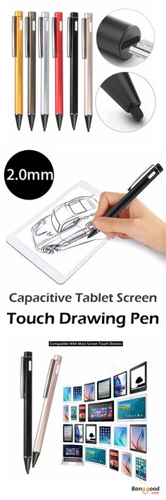 US$17.99+Free shipping. 2.0mm Rechargeable LED Active Stylus Capacitive Tablet Screen Touch Drawing Pen For iPhone iPad. Not easy to lost and convenient to carry due to a clip.