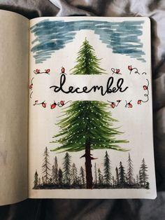 December - ✰ bullet journal & co ✰ - Winter Bullet Journal Christmas, December Bullet Journal, Bullet Journal Ideas Pages, Bullet Journal Inspiration, Christmas Drawing, Christmas Art, Bullet Journal Lettering, Bullet Journal Markers, Bullet Journel
