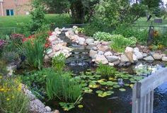 Add waterfall to pond Waterfall Project, Diy Waterfall, Garden Waterfall, Backyard Water Feature, Ponds Backyard, Backyard Ideas, Garden Ideas, Pond Landscaping, Landscaping With Rocks