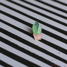 Cactus Enamel Pin  Pastel Cactus Pin  by PricklyPearPlanner