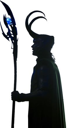 Loki silhouette...probably gonna use this for an art project