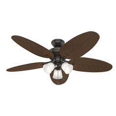 901d0e91f78 LED Indoor Outdoor Noble Bronze Ceiling Fan with Light Kit