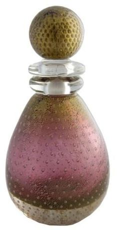 Muano perfume bottle crafted by glass artist  Alfredo Barbini (1912), glass, Italy.