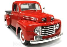 Now this I might be able to afford - 1948 Ford F-1 Pickup 1:18 Scale - Yatming Diecast Model (Red)