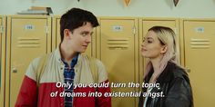Asa Butterfield n' Emma Mackey as Otis and Maeve - Sex Education Series Movies, Movies And Tv Shows, Tv Series, Netflix Series, British Actors, American Actors, Asa Buterfield, Happy Stories, Coming Of Age