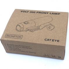 Brompton Cateye front light set - with bracket to mount on the front fork. USB rechargeable