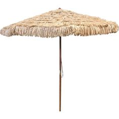 "I bought four of these a few weeks ago--we are doing lots of outdoor entertaining at the barn for groups this summer and these ""thatch"" (actually it's plastic!) umbrellas look great, provide shade and are a great deal!"