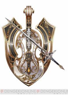Eagle Medieval Shield by CacaioTavares on DeviantArt Fantasy Sword, Fantasy Armor, Fantasy Weapons, Armor Concept, Weapon Concept Art, Sword Design, Shield Design, Anime Weapons, Medieval Weapons