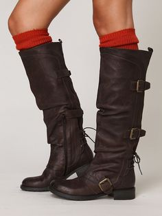 Free People Marl Buckle Tall Boot, $129.95