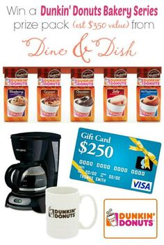 Dunkin' Donuts $350 {ARV} Bakery Series Giveaway @Kristen @DineandDish
