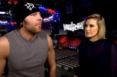 """Dean Ambrose and Renne Young I don't like her very much, but they are so cute together... """"I wouldn't be with anything less than the optimal, most beautiful, most tremendous girl in the world,"""" he said. """" But the bottom line is, she's far too good for me! But it's far too late and I've got my claws stuck into her now, she can't go anywhere."""""""