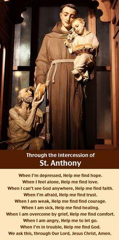 A prayer through the intercession of Saint Anthony