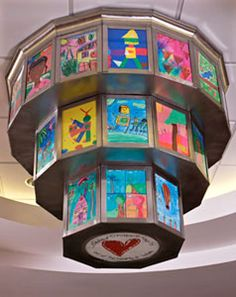 I am in such awe of the wonderful art in the Le Bonheur Children's Hospital in Memphis, Tn - a mixture of art donated by amazing artist as well as artwork by children.