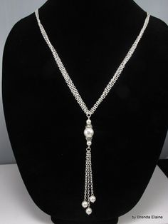 Long and Elegant Pearl Necklace by byBrendaElaine on Etsy, $32.00