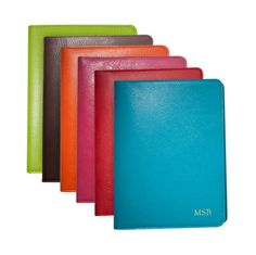 Personalized Bright Leather Notebooks