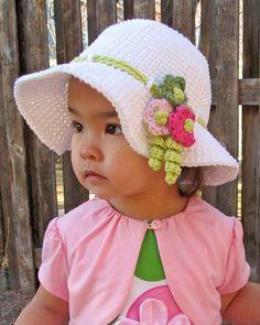 CROCHET PATTERN Spring Garden a spring/summer hat by TheHatandI