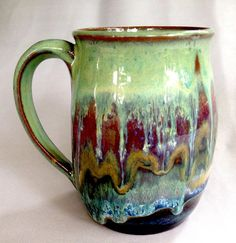 Glazes used from top to bottom - Textured Turquoise, Chun Plum, Iron Lustre, Vert Lustre, Oatmeal, Blue Rutile, and Textured Amber Brown.