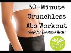 30-min Crunchless Abs (safe for diastasis recti!) - YouTube