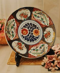 Japanese Imari Porcelain Charger  Circa 1920s  Tasiho by DLDowns, $151.00