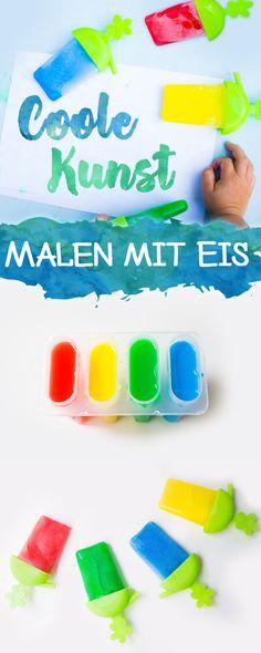 Malen mit Eis, eine kreative Spielidee für heiße Tage