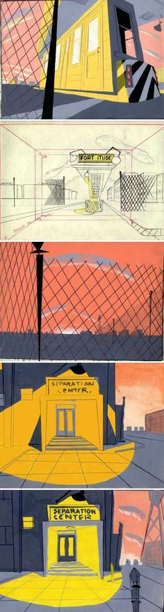 Animation backgrounds by Chuck Jones