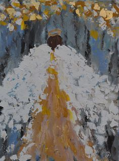 Original  Impressionist Angel  painting on Gallery wrapped canvas