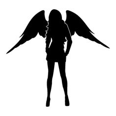 ✓ Large choice of colors and stickers size ✓ High Quality & Avery Vinyl ✓ Fast Shipping ✓ Customer Satisfaction ✓ Secure Payment Angel Silhouette, Gangster Tattoos, Desktop, Angels Logo, Anime Girl Drawings, Tattoo Stencils, Angels And Demons, Wall Decal Sticker, Ideas