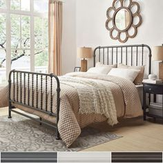 Shop for Gulliver Vintage Antique Spiral Queen Iron Metal Bed by INSPIRE Q. Get free shipping at Overstock.com - Your Online Furniture Outlet Store! Get 5% in rewards with Club O!