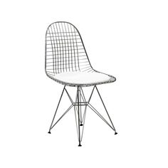 Inspired by Charles   Ray Eames  design  the Eames Style Wire DKR Chair has  a chrome frame complemented by a white or black faux leather seat pad Eames Style Wire DKR Bikini Chair   With a black or white seat  . Eames Dsw Dsr Dss Faux Leather Seat Pad. Home Design Ideas