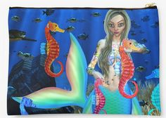 Mermaid and Seahorse Friends for Future Imaging store Cozy Blankets, Fleece Blankets, Ocean Scenes, Picnic In The Park, Mermaid Blanket, Edge Stitch, Outdoor Events, Zipper Pouch, Cuddling